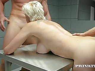Tattooed Blonde & well known hacker, Mila Milan, gets arrested but wastes no time jerking off both cops & getting fucked hard up the ass, to get out of jail! Full Flick & 100's More at Private.com!