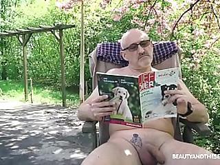 Horny Teenie gets grandpa angry and horny
