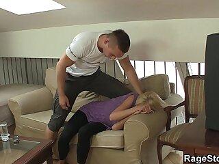 She screams as he fucks her rough and hard