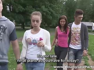 Young Sex Parties - Teens Rita Milan, Foxy having a home fucking party