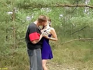 cute young big boob flexible german teen enjoys a wild oudoor big cock ride